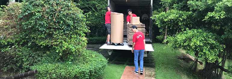 Movers loading the moving truck