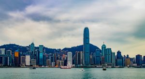 view on hong kong from the river side