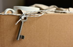 box with a key