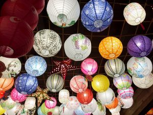 LAnterns that are hung during Hong Kong festivals and events.