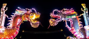 Decorative chinese dragons.