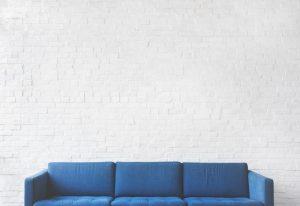 -blue sofa