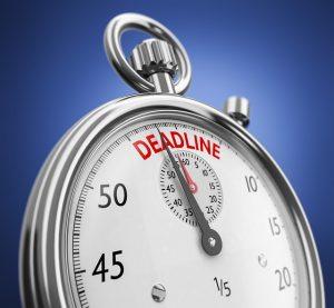 -clock is ticking to deadline