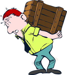 man with crate on his back