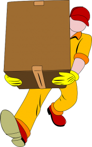 -drawing of a man carying a moving box