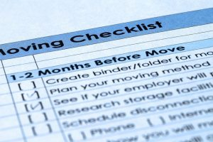 A checklist will help you organize your expenses.