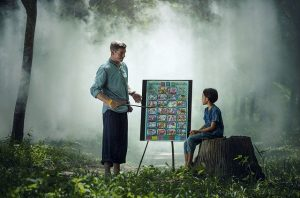 help your kids adjust to a new school - a father teaching his son