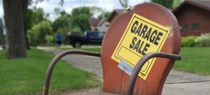 Pack your garage after the garage sale