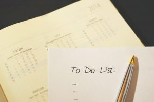 Picture of a to do list.