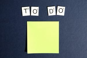 Picture of a to do list