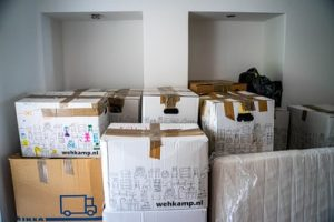 Some moving boxes