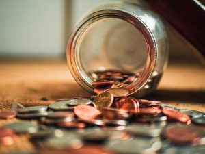 A jar full with coins