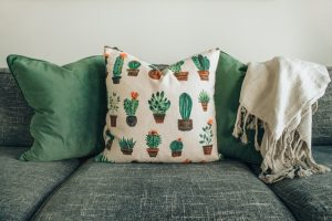 Picture of cushions on a couch