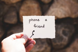 A note: phone a friend