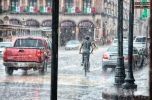 bad weather conditions in a city