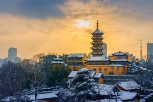 one of the most most livable cities in China is Nanjing covered in snow