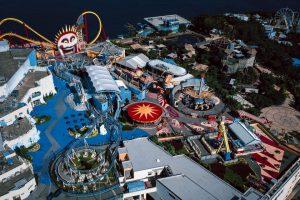 Aerial view of Ocean Park Hong Kong
