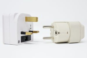two power adapters