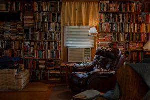 a big bookshelf