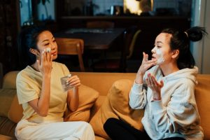 two friends talking about what to do if your best friend is moving from Hong Kong
