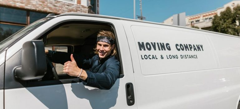 A mover with a van
