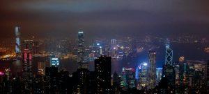 Hong Kong skyline during night