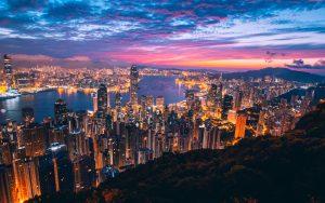 Hong Kong during the night