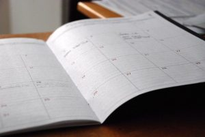 a calendar - stay focused and organized while moving