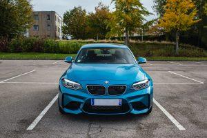 blue car parked