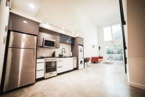 white and metal kitchen