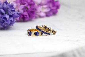 blue and gold rings