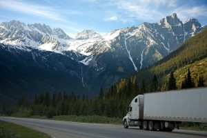 a truck on the road - ship furniture or buy new